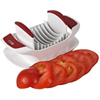 Zyliss Tomatenschneider. Capreseschneider. Praktischer Scheibenschneider für Obst und Gemüse. Mit 8 scharfen Edelstahlklingen für gleichmäßige Scheiben und sauberes Arbeiten.