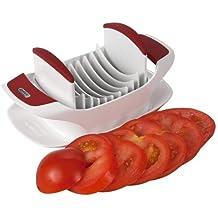 Zyliss - Tomatenschneider. Capreseschneider. Praktischer Scheibenschneider für Obst und Gemüse. Mit 8 scharfen Edelstahlklingen für gleichmäßige Scheiben und sauberes Arbeiten.