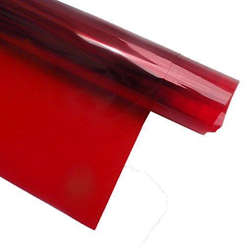 Hoho Fensterfolie, nicht reflektierend, Anti-UV, Fensterglas-Deko, getönte Folie, 1,52 x 0,5m. rot