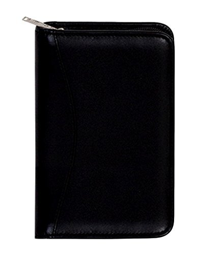 Scully Leather Zip Pocket Agenda Soft Plonge 5008Z Organizer,Black by Scully (Scully Zip)