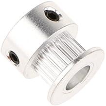 MagiDeal Gt2 20t Cinghia di Timbri in Alluminio per Ripetitore Stampante 3D Foro 8mm - 18 mm