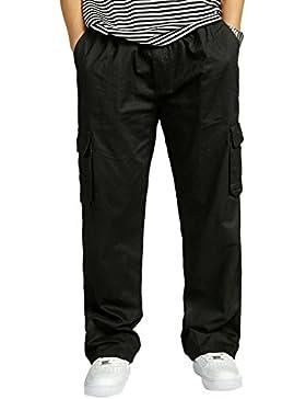 Insun - Pantalón - para hombre Negro negro XXXL
