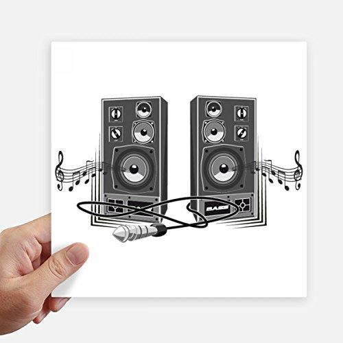 DIYthinker Lied-Musik-Lautsprecher-Box-Muster-Quadrat-Aufkleber 20Cm Wand Koffer Laptop Motobike Aufkleber 4Pcs 20cm x 20cm Mehrfarbig