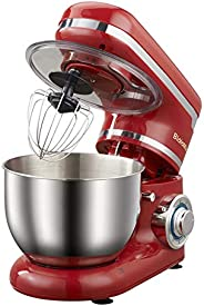 Household Stand Mixer 4L, 1200W, 6-Speed Food Mixer, Kitchen Electric Mixer with Dough Hook, Whisk, Beater, Bo
