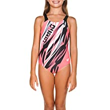 Sand G Jr Swim Pro One Piece L Swimsuit Sports Girl Zephiro, Girls, girls, 001647, black / shiny pink, 12-13