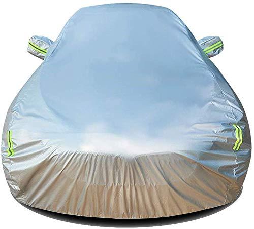 ZGYQGOO Autoabdeckung Kompatibel mit A-UDI Q8 Autoabdeckung Sonnenschutz Regen Staub Frostschutz Verdickung Isolierung Oxford-Tuch Autoabdeckung Eine Plane (Farbe: Silbe