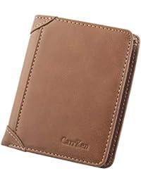Portefeuille Mince en Cuir Mini Portefeuille de Loisirs Loisirs Hommes  Carte de crédit Trifold Purse Coin 1423c67777a