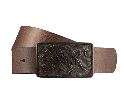 WRANGLER Cintura di uomini Cintura di pelle marrone 2949, Länge:105 cm;Farbe:braun
