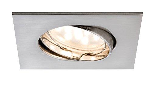 Paulmann 927.73 Premium EBL Set Coin klar eckig schwenkbar LED 3x6,8W 2700K 230V 51mm Eisen gebürstet 92773 Spot Einbaustrahler Einbauleuchte (3 Coin Set)
