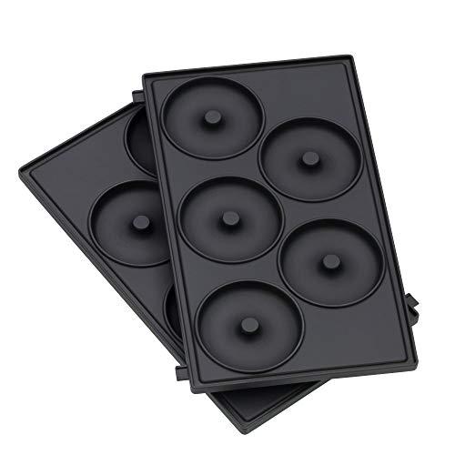 WMF Lono Snack Master Donut Platten-Set, Zubehör, 2 abnehmbare Plattensets, antihaftbeschichtet