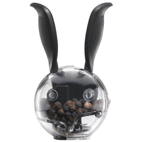 Chef´n 101-034-001 Mini Magnetic PepperBall magnetische Mini-Pfeffermühle, schwarz-transparent