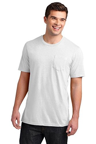 District® Young Mens Very Important Tee® with Pocket. DT6000P White XS