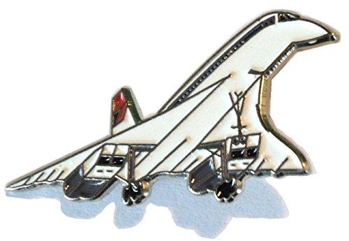 Concorde Supersonic Jet Airliner Aircraft Metal Enamel Badge Brooch