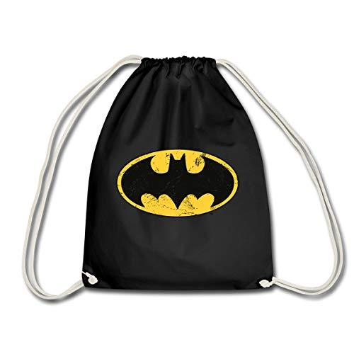 DC Comics Batman Logo Used Look Turnbeutel, (Wirklich Coole Superhelden Kostüm)