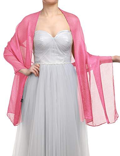 zerschal Scarves Stola 70 * 180CM Sommer Tuch Stolen für Kleider in 22 Farben Coral ()