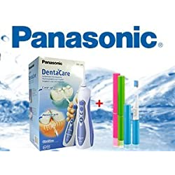 Panasonic EW1211W845 - Irrigador bucal para la limpieza de los espacios interdentales, color blanco y azul + Regalo cepillo sónico