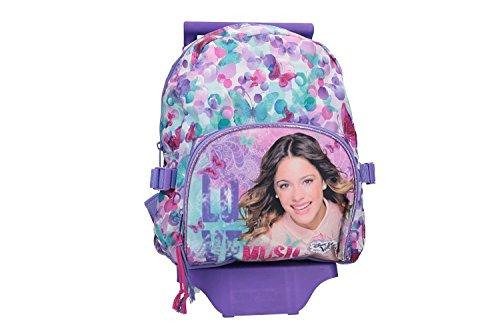 Disney violetta zaino bambina viola borsa scuola tempo libero con trolley vz822