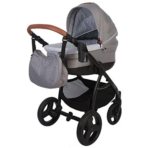 Bo Jungle 4 in 1 Kombi Kinderwagen Hellgrau Baby Buggy Baby Jogger Babywagen