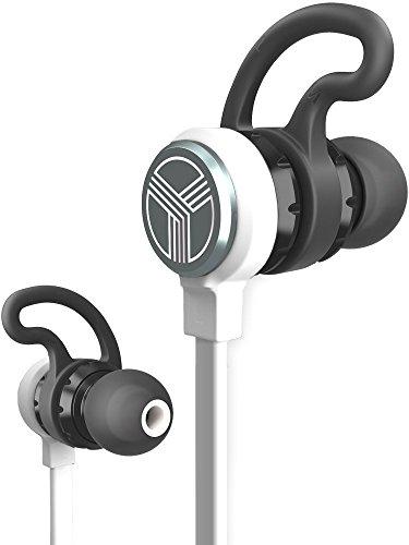 TREBLAB J1 Bluetooth Ohrhörer, beste aptX drahtlose Kopfhörer fürs Laufen im Fitnessstudio. [2018 aktualisiert] IPX6 wasserdichtes, schweißfestes, magnetisches Secure-Fit Headset. Geräuschunterdrückende Ohrhörer mit Mikrofon. (white)