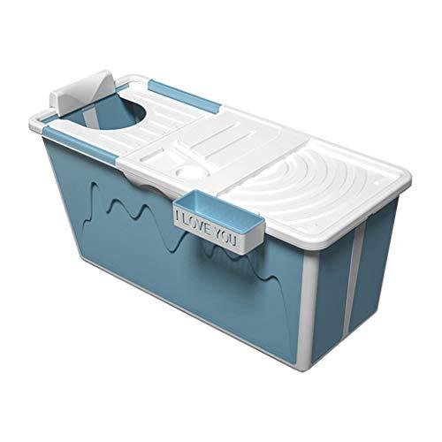 Faltbare Badewanne Erwachsene Tragbare Badewanne Erwachsene Badewanne Für Dusche Erwachsene Groß Plastik Babybadewanne,freistehende Badewanne Kind Blau/Rosa 120*43*53cm ( Color : Blue )