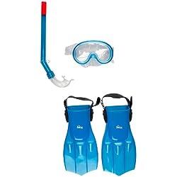 360 Splasher Scuba Kit de démarrage pour enfant Palmes, masque et tuba de plongée avec fermeture