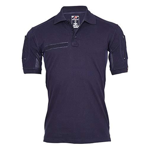 Tactical Polo-Shirt Navy blau Polizei Feuerwehr Berufs Bekleidung Hemd #22403, Größe:M, Farbe:Dunkelblau
