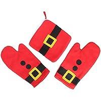 BAITER Natale cottura Set di guanti da cucina Prevenire Piastra morsetto resistente al calore antiscivolo (Mini Natale Piastra)