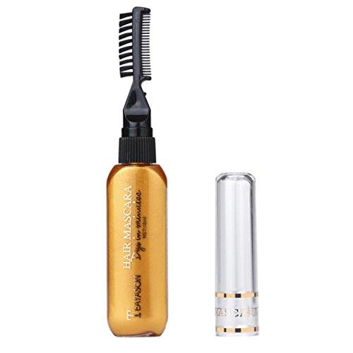Cheveux Coloration, Malloom® 13 Couleurs Couleurs temporaires pour cheveux Mascara Crème pour teinture des cheveux No toxique Bricolage Couche Dye (Or)
