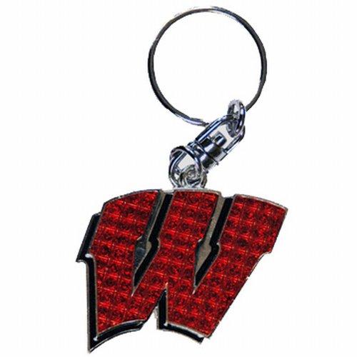 NCAA Wisconsin Badgers Shanghi Diamond Keychain