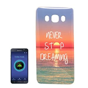 Crazy4Gadget For Samsung Galaxy J7 (2016) / J710 IMD Words Sunrise Pattern Soft TPU Protective Case Back Cover