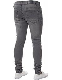 Enzo Mens EZ326 Skinny Skinny Jeans W40L30 Blue Light Wash