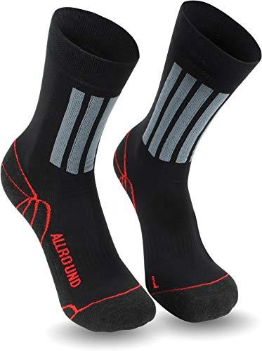 1-3 Paar Allround Sport und Trekking-Socken mit X-Static® Silbersocken mit antibakteriellen Eigenschaften für Sportler Größe 2 Paar 43/46