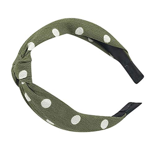 Haarbands,Sasstaids Vintage Mädchen Dame Knot Stirnband Hairband Band Draht Tartan Retro Narbe Stirnband