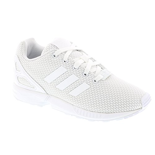 adidas  Zx Flux, Basses mixte enfant Blanc (Ftwr White/ftwr White/ftwr White)