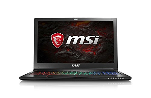 "MSI GS63 7RE(Stealth Pro)-052IT Notebook da Gaming, Display 15.6"" FHD IPS, i7-7700HQ, RAM 16 GB, HDD 1TB + 128GB SSD, Scheda Grafica Nvidia GTX 1050 Ti 4 GB, Windows 10 [Layout Italiano]"