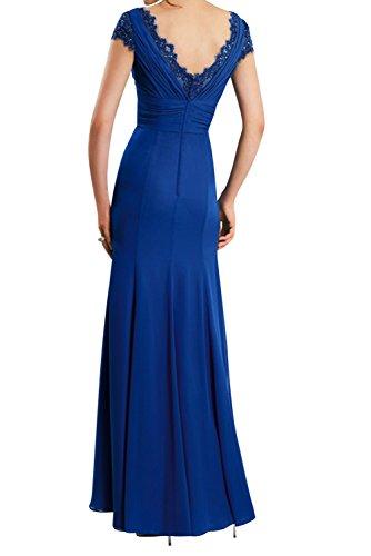 TOSKANA BRAUT Elegant Neu Damen Brautmutterkleider Chiffon Kurzarm Falte Abendkleider Ballkleider 224357