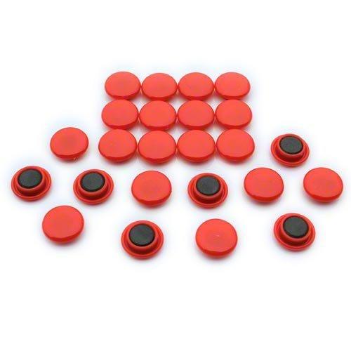 Magnet Expert® Petit planification/avis planche aimants, rouge, 1 pack de 24