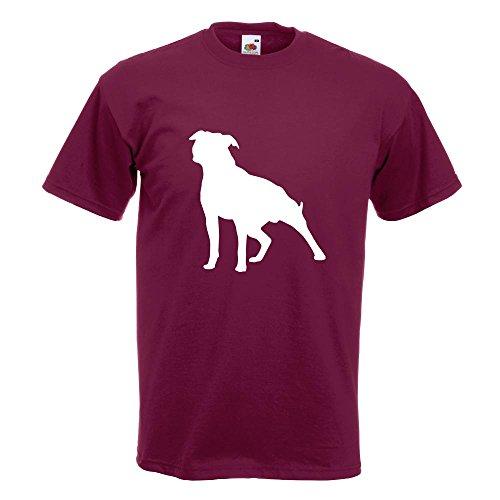 KIWISTAR - American Stafford Hunderasse T-Shirt in 15 verschiedenen Farben - Herren Funshirt bedruckt Design Sprüche Spruch Motive Oberteil Baumwolle Print Größe S M L XL XXL Burgund