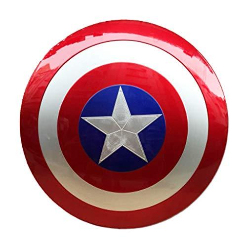 HYYSH Captain America Shield Alloy Avengers Spielzeug kann das US-Team Cosplay Metal Requisiten halten (America Dress Up Captain)