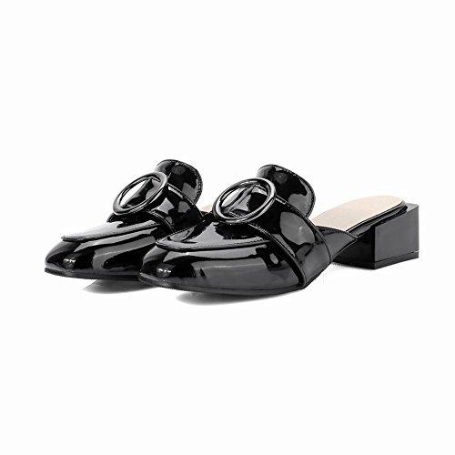 MissSaSa Donna Scarpe Pantofole col Tcco basso Nuovo Nero