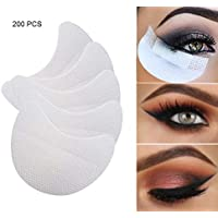 Almohadillas de Sombra de Ojos Blancas Almohadillas Adhesivas bajo Ojos 200 Piezas, para extensión de pestañas/delineador de ojos/tinte/permanente y maquillaje de labios