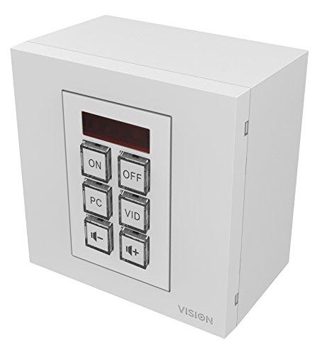 Vision TC3-CTL Accesorio de proyector Mando a Distancia - Accesorio para proyector (Mando a Distancia, Universal, Blanco, De plástico, Pulsadores, RoHS, WEEE, CE/EMC, C-Tick, FCC)