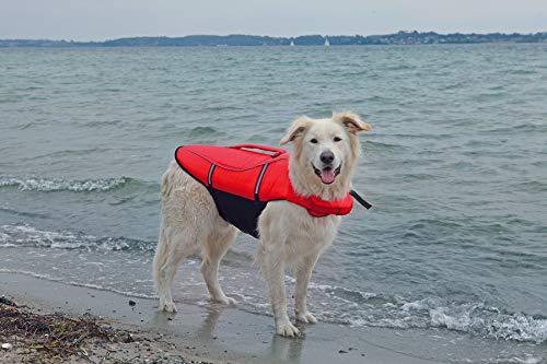 Artikelbild: Trixie 30144 Schwimmweste, für Hunde, L: 54 cm/max. 36 kg, rot/schwarz