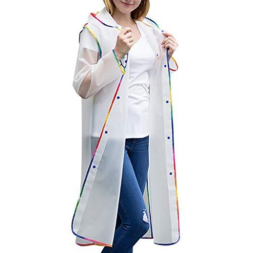 rt von Wanderregenmantel für Männer und Frauen Mode Edge-Wrapped Regenmantel ()