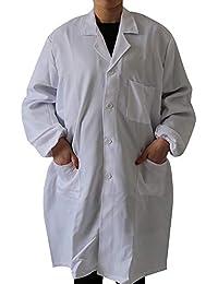 ac441f59be38 Dihope Unisex Arbeitsmantel Berufsmantel Kochjacke Medizin Labor Kittel  Mantel Maler Lebensmittel Arbeitskittel für Damen und Herren