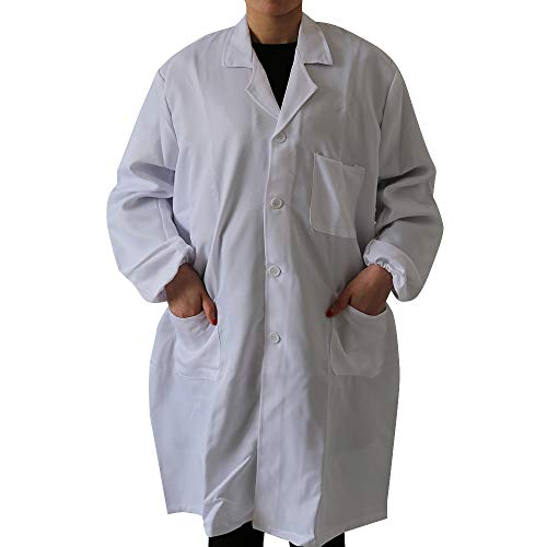 Dihope Unisex Arbeitsmantel Berufsmantel Kochjacke Medizin Labor Kittel Mantel Maler Lebensmittel Arbeitskittel für Damen und Herren Unisex-kittel
