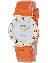 Jowissa J2.032.M - Reloj analógico de cuarzo para mujer con correa de piel, color naranja
