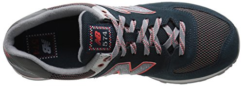 New Balance Mens 574 Outside In Classics Traditionnels Suede Trainers Multi