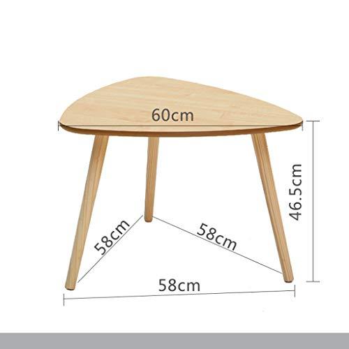 Jxxddq tavolino da caffè tavolino da salotto in legno tavolino da salotto creativo comò da tavolo con angoli (dimensioni : 60x46.5x58cm)