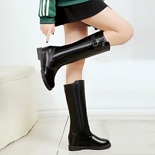 Scarpe Western Donna Stivali e Stivali Alti a Inverno XAI Stivali Nero Basse Autunno Maniche Rialzate y4ARWqcv1
